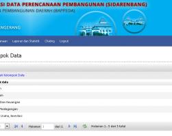Sistem Informasi Data Perencanaan Pembangunan Daerah (SIDARENBANG)