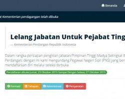 Aplikasi Seleksi Jabatan JPT Madya