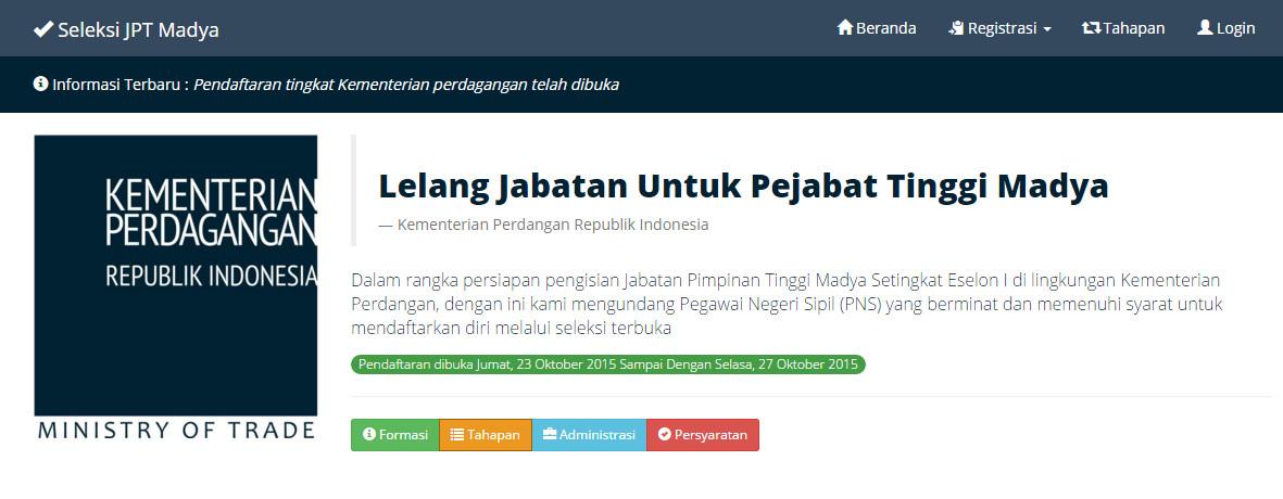 Seleksi Jabatan JPT Madya